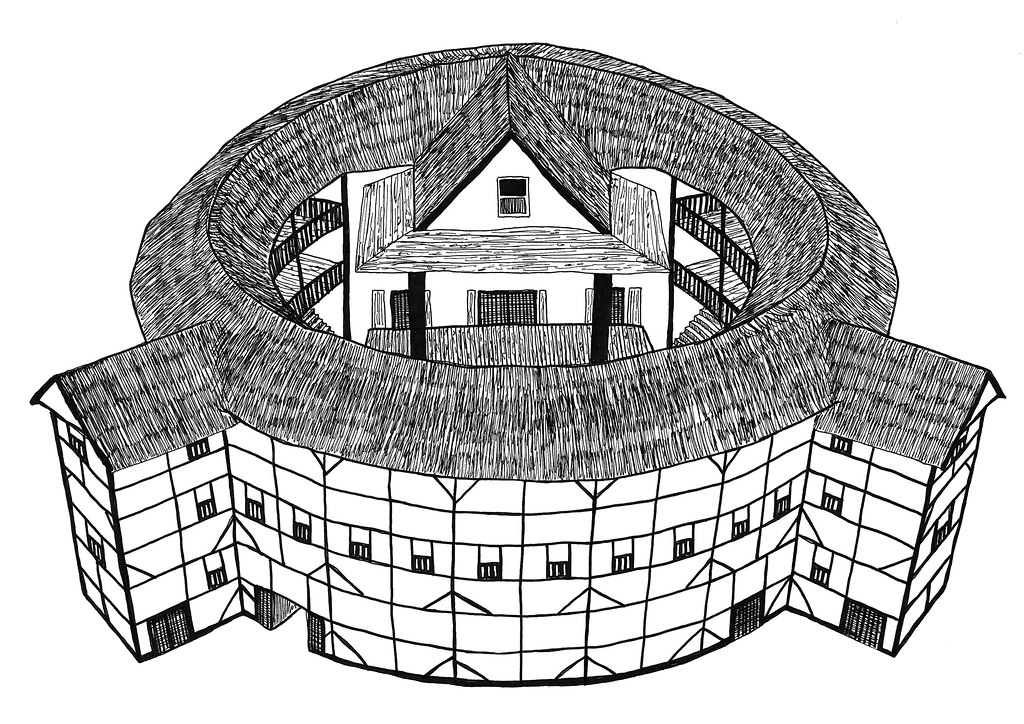 globe theater diagram gfs surf 90 wiring london - shakespeare's theatre pen drawing by mich…   flickr
