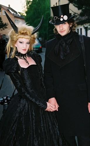 Goth Couple  Goth Couple taken at Wave Gotik Treffen 2008