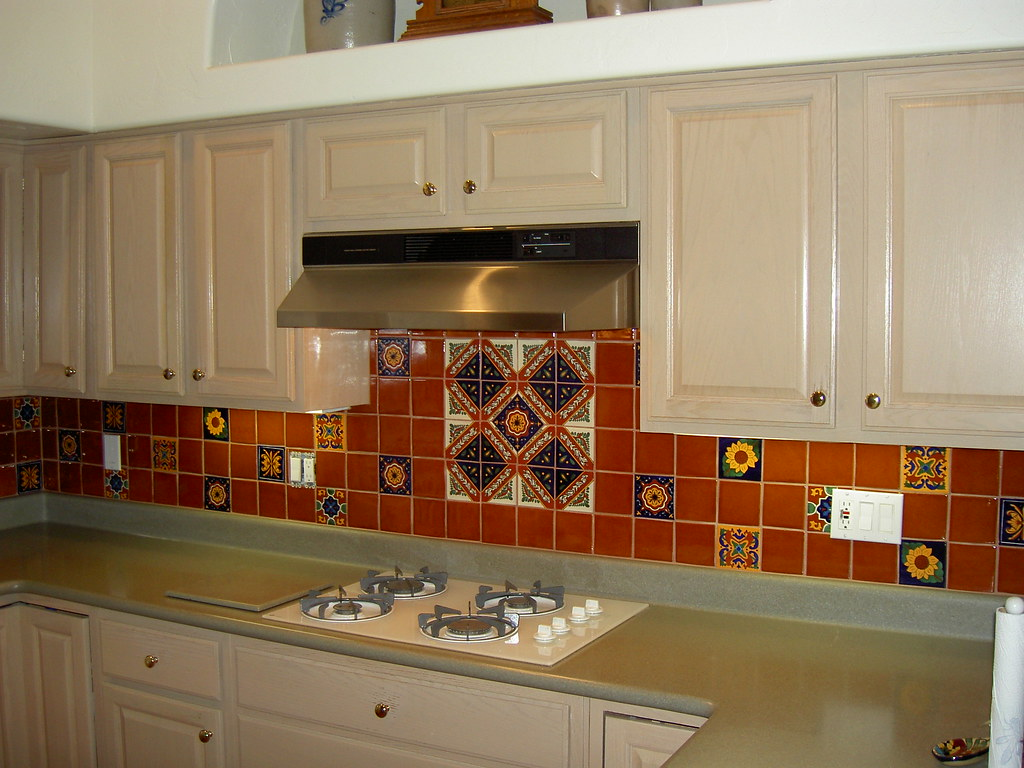 mexican backsplash tiles kitchen island and stools tile expressive flickr