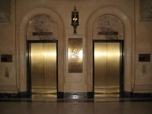 Elevator doors  Pacific Center Building elevator doors in