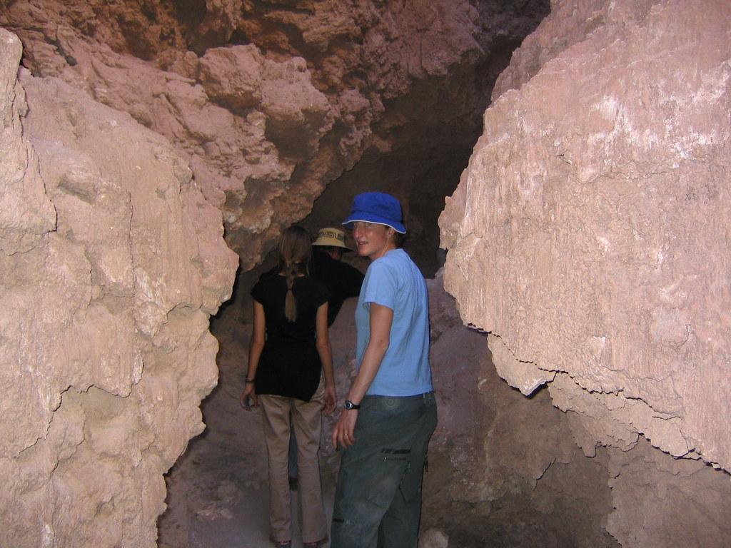 Salt Cave  Emily inside a salt cave in the Valle de la