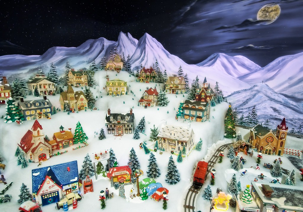 The Snowy Village In The Moonlight Another Part Of The