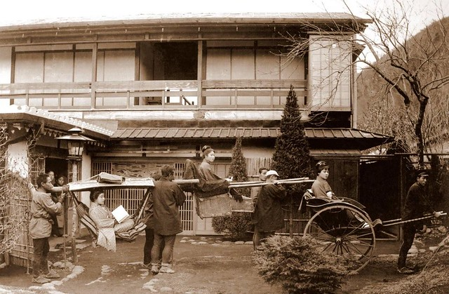 THREE MODES of TRANSPORTATION in OLD JAPAN  The Kago