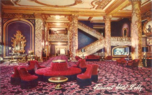 fairmont sofa indian print throws hotel lobby, dorothy draper design, 1940s | flickr