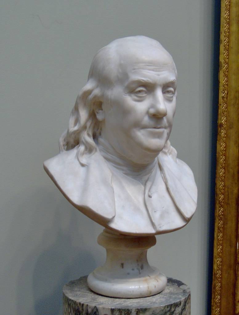 Bust Of Benjamin Franklin By Jean Antoine Houdon Bust Of