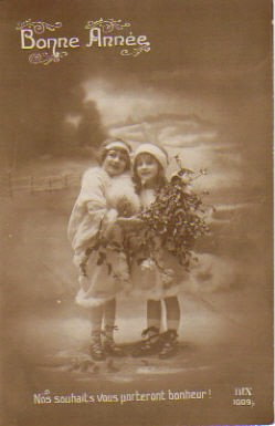Vintage French Christmas Postcard 1912  Bought in Bordeaux  Flickr