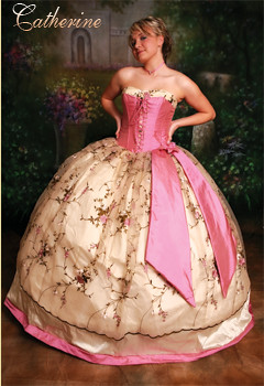 Quinceanera Dresses  This is a gown by Victorian Rose