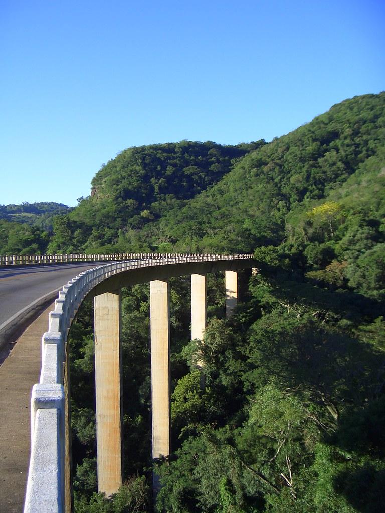 Ponte  Garganta do Diabo  Santa Maria RS  Dia perfeito