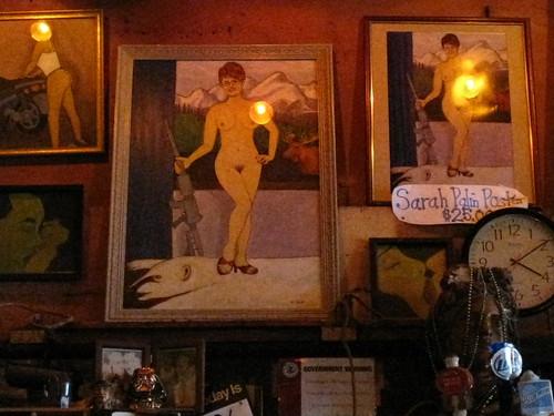 Sarah Palin Naked Painting  The famous portrait of sarah