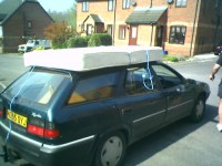 Mattress on car roof   April 14th 2007 - Steve moving my ...