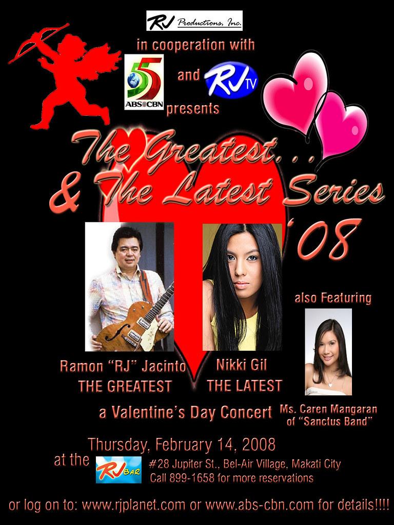 "Ramon ""RJ"" Jacinto Nikki Gil Concert Poster Sample Flickr"