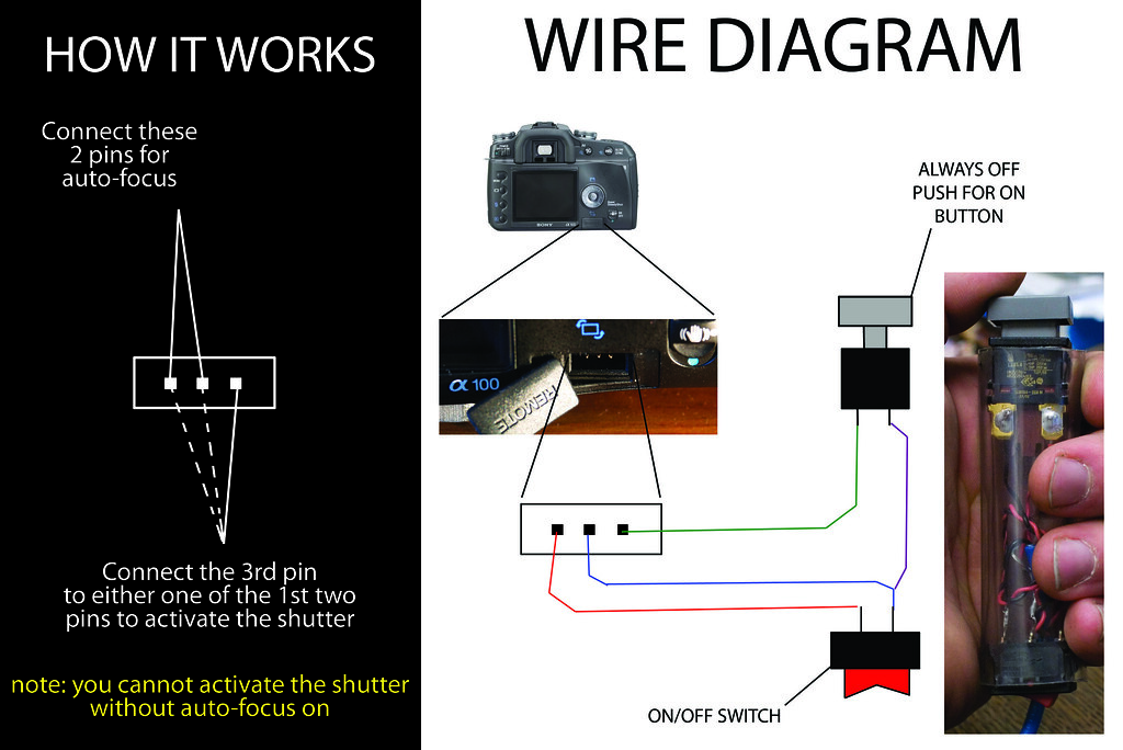 Diy Homemade Sony Alpha Wired Remote Wire Diagram Flickr Photo