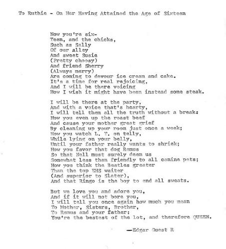 Sweet 16th Birthday Poems