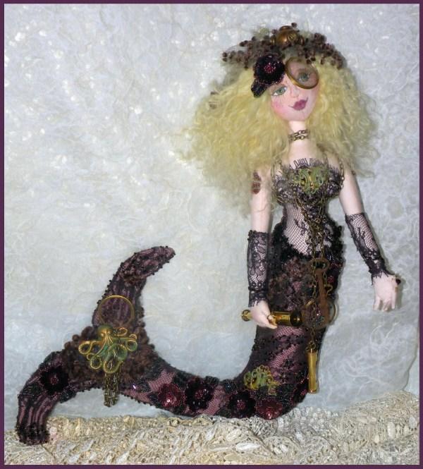 Ooak Steampunk Mermaid Art Doll Sidnee