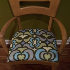 Heywood Wakefield Dogbone Chairs Pier One Rattan Chair With Amy Butler Fabric Flickr By Polishedtwo