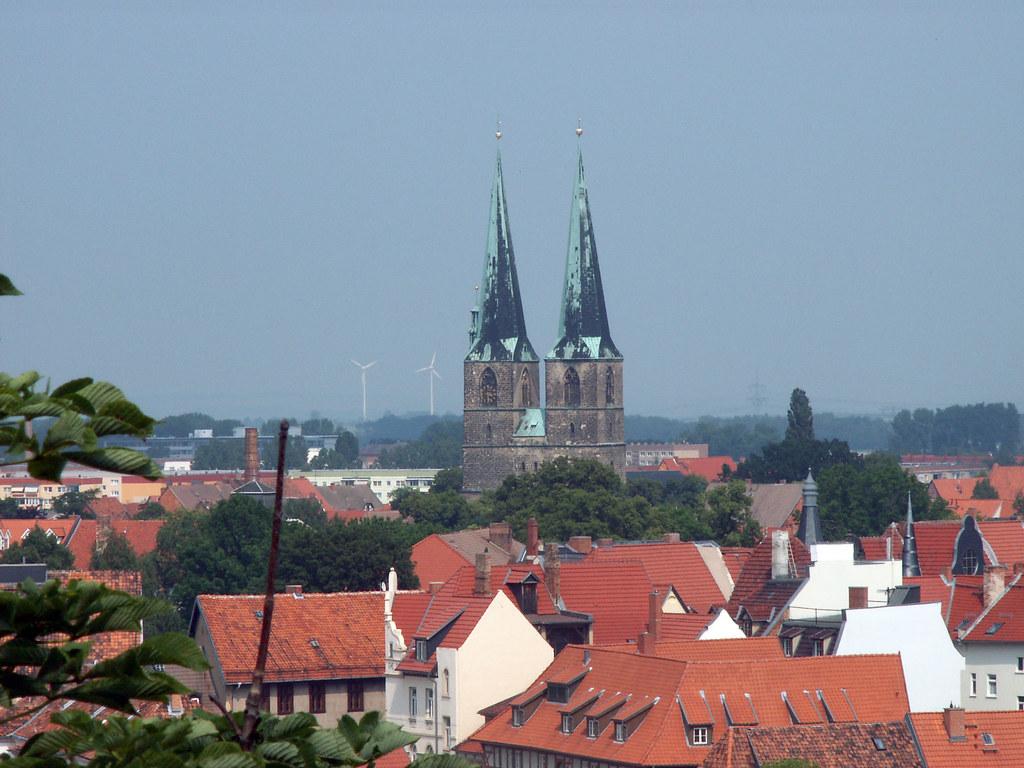 Quedlinburg Blick vom Schloss Aufgenommen auf einem
