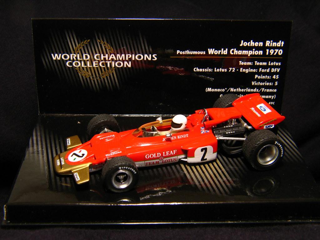 1970 Lotus Ford 72 Jochen Rindt 1 43 World Champions Co