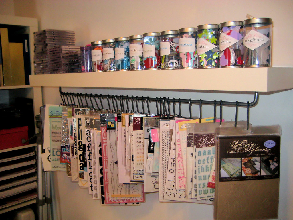 Scrapbooking Storage Shelf  This is my version of the