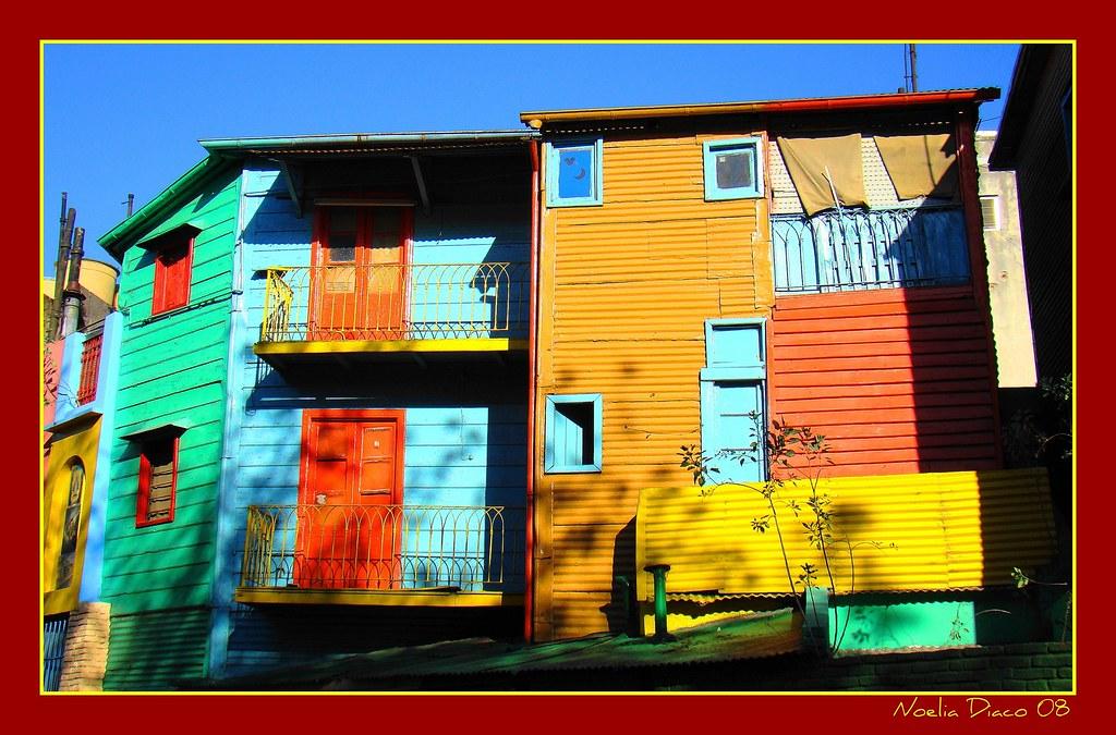 Colores de los conventillos de Caminito  Las