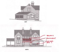 house plan alterations (side view) | Top shows the kitchen ...