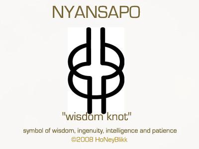 NYANSAPO Wisdom Knot West African Wisdom Adinkra Symbol
