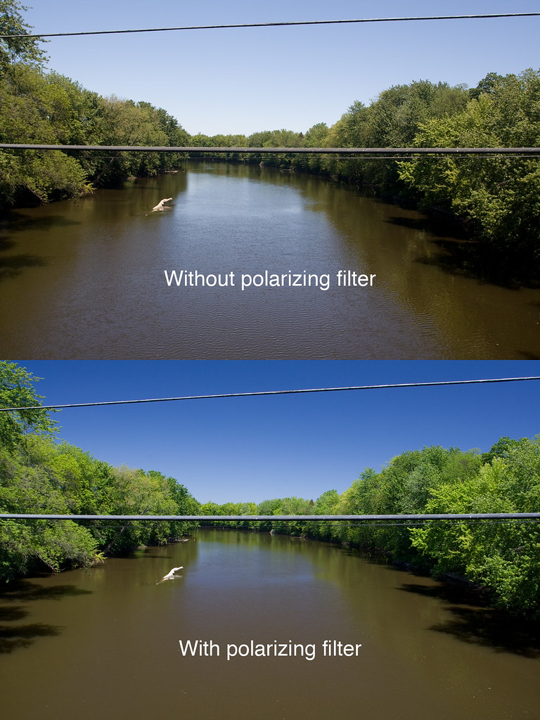 Comparison of not using or using a polarizing filter  Flickr