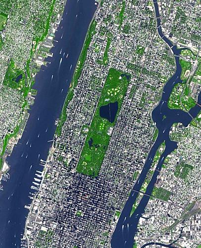 Park York Satellite Central New Map