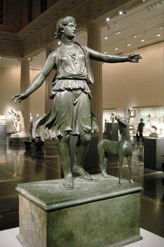 NYC Metropolitan Museum Of Art Roman Statue Of Artemis