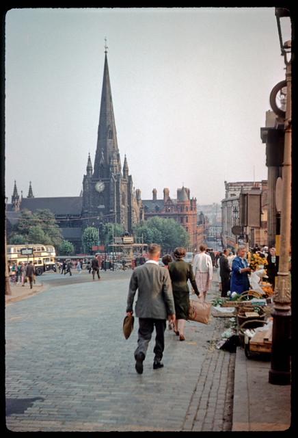 Bull Ring market area Birmingham 1959  Photo by Phyllis