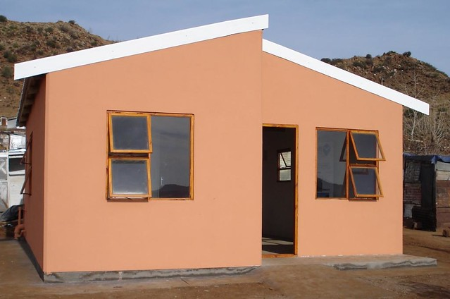 low cost housing  moladi low cost housing built in South
