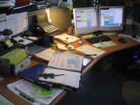 messy office desk   this is a shot of my office desk at ...