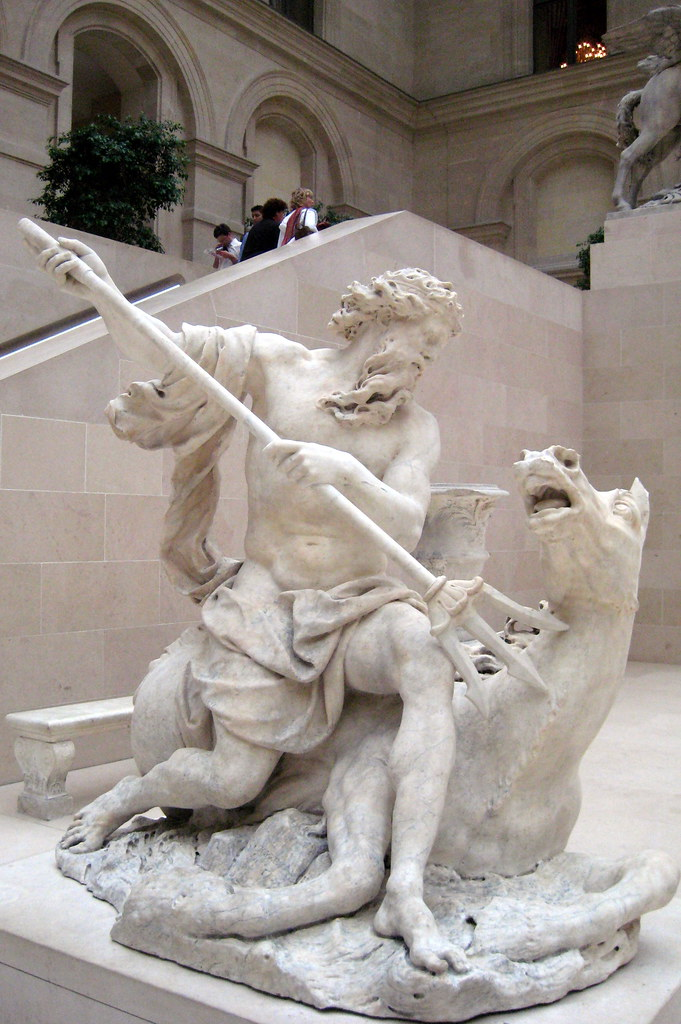Paris  Muse du Louvre Neptune  Neptune is one of four