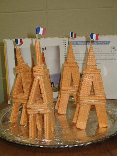 Project Library Rats  Edible Eiffel Towers made from