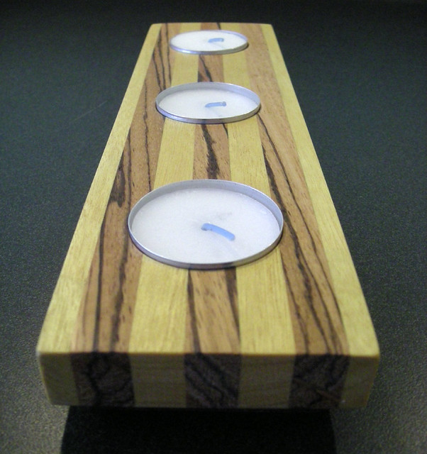 Wood Lights Candles