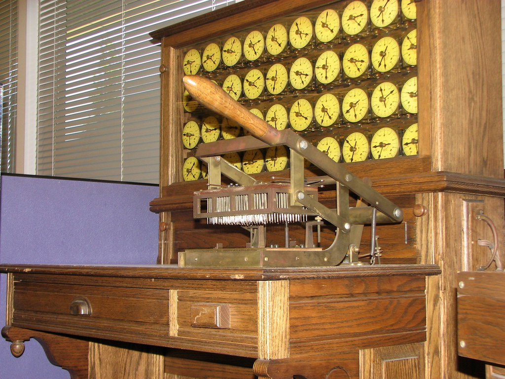 c1900 Hollerith Census Tabulator  The bed of nails devic  Flickr