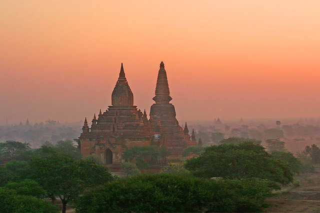 Drifting over a forest of pagodas Bagan Myanmar  Flickr