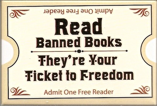 Read Banned Books  A pin from Eastern Michigan University