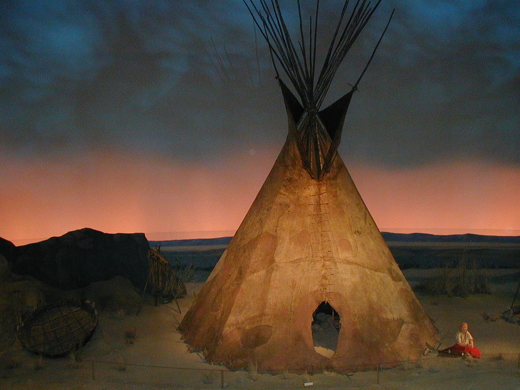Nez Perce Buffalo Hide Tipi Circa