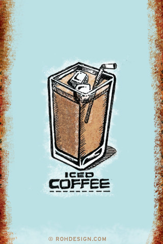 Wallpaper For Iphone Cute Iced Coffee 320x480 Wallpaper A 320x480 Image From The