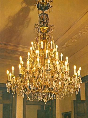 Detalhe do Lustre da Sala de Jantar do Palcio Imperial Pe