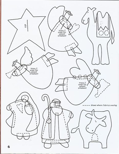 Cut Out Nativity Scene Coloring Page Sketch Coloring Page