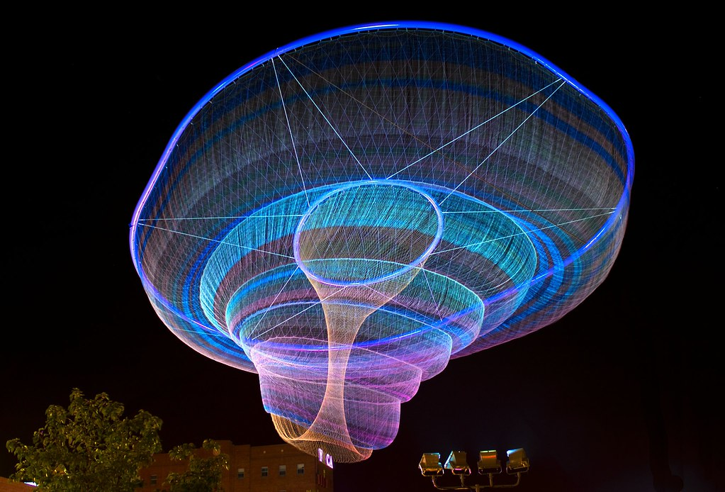 Giant Floating Jellyfish  Sky Bloom Floating Sculpture