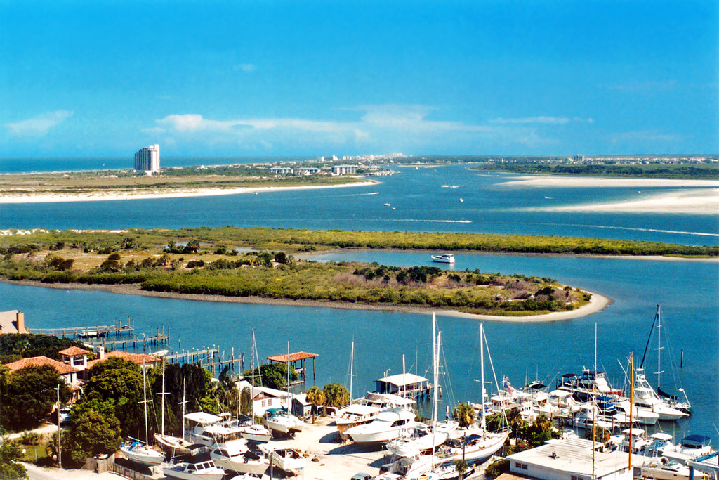 Ponce de Leon Inlet Intracoastal Waterway and New Smyrna