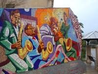 Mosaic Wall Art | Mosaic wall on East 11th Street, created ...