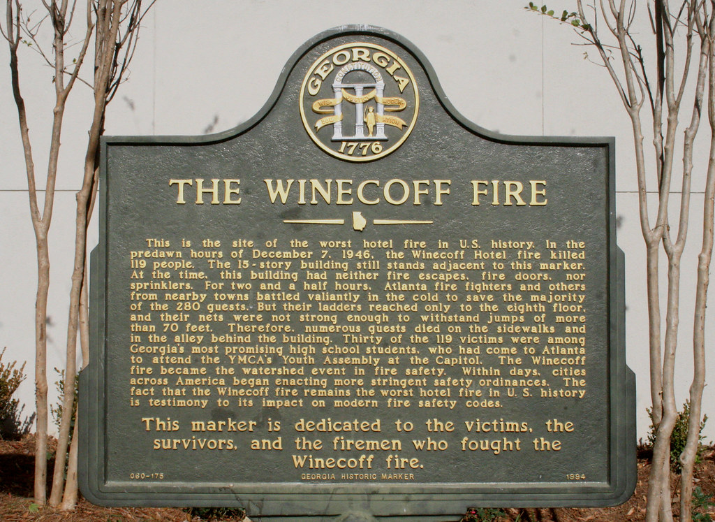The Winecoff Hotel And Fire Peachtree Burning