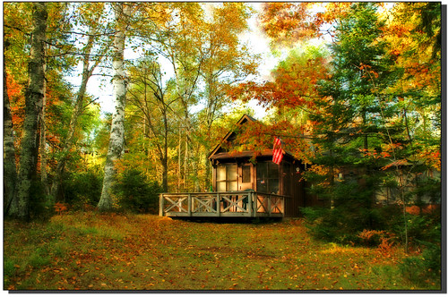 Windows 10 Fall Usa Wallpapers 4k Little Cabin In The Woods In Autumn Nature55 Flickr