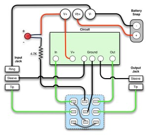3PDT True Bypass Wiring Diagram | I put this together to hel… | Flickr