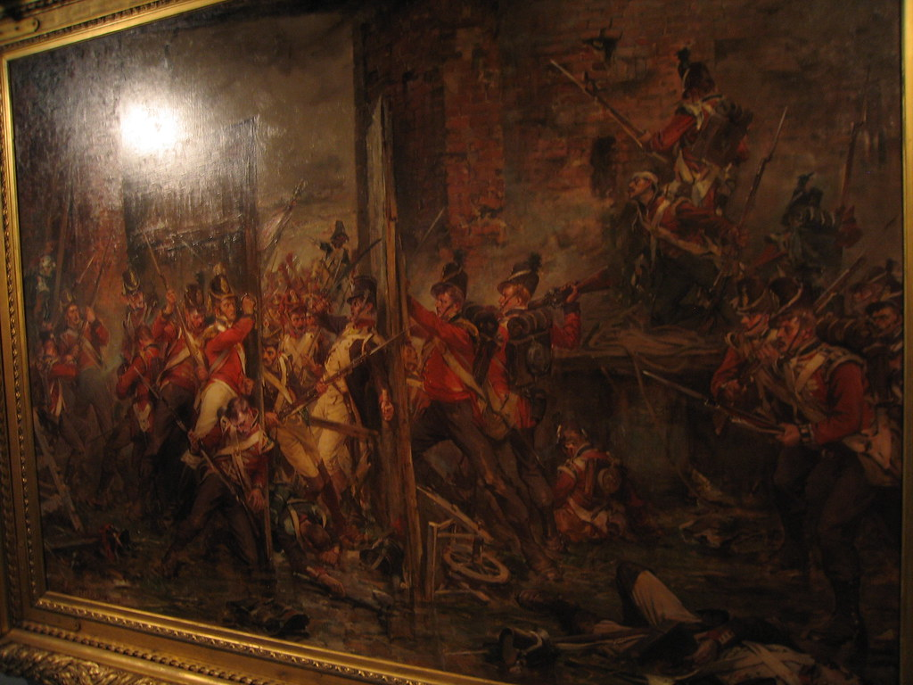 Closing The Gates At Hougoumont Painting An Attack By