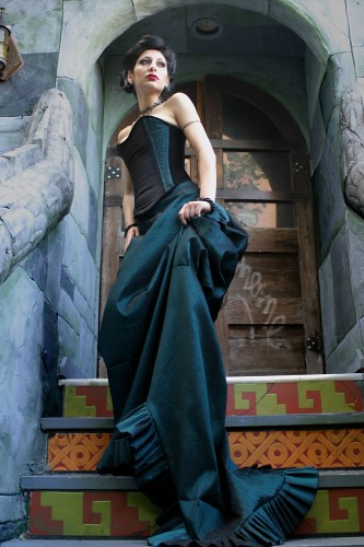 Celestina Bustle Gown  For a truly elegant affair try