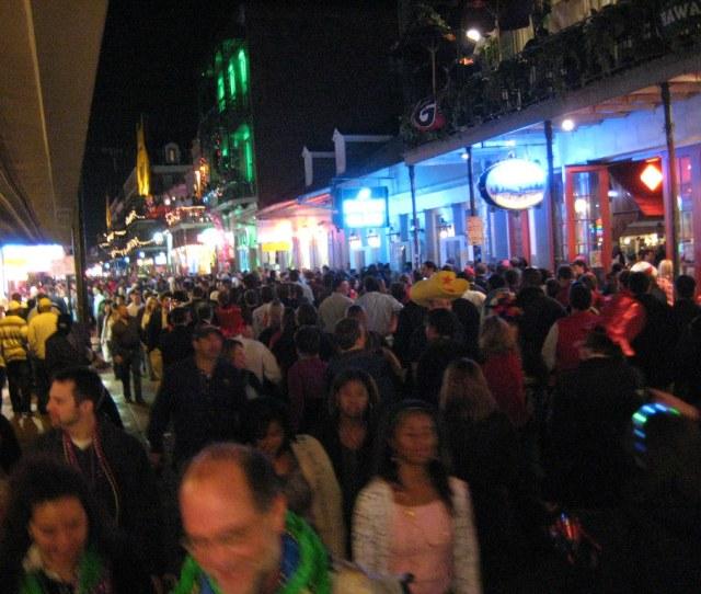 New Years Eve  Bourbon St By Numinosity Gary J Wood